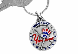 <bR>             LEAD & NICKEL FREE!!!<br>         OFFICIAL MLB LICENSED!!<br>       MAJOR LEAGUE BASEBALL!!<Br>W15761KC - NEW YORK YANKEES<BR>KEY CHAIN FROM $2.99