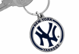 <bR>             LEAD & NICKEL FREE!!!<br>         OFFICIAL MLB LICENSED!!<br>       MAJOR LEAGUE BASEBALL!!<Br>W15762KC - NEW YORK YANKEES<BR>KEY CHAIN FROM $2.99