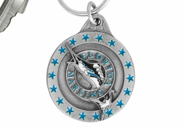 <bR>               LEAD & NICKEL FREE!!!<br>           OFFICIAL MLB LICENSED!!<br>         MAJOR LEAGUE BASEBALL!!<Br>W16738KC - FLORIDA MARLINS KEY<BR>                      CHAIN FROM $2.99