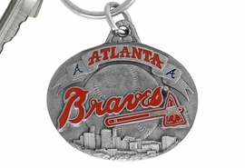 <bR>             LEAD & NICKEL FREE!!!<br>         OFFICIAL MLB LICENSED!!<br>       MAJOR LEAGUE BASEBALL!!<Br>   W16750KC - ATLANTA BRAVES<BR>               KEY CHAIN FROM $2.99