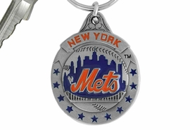 <bR>            LEAD & NICKEL FREE!!!<br>         OFFICIAL MLB LICENSED!!<br>       MAJOR LEAGUE BASEBALL!!<Br>    W16769KC - NEW YORK METS<BR>               KEY CHAIN FROM $2.99