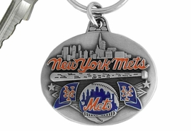 <bR>             LEAD & NICKEL FREE!!!<br>         OFFICIAL MLB LICENSED!!<br>       MAJOR LEAGUE BASEBALL!!<Br>    W16770KC - NEW YORK METS<BR>              KEY CHAIN FROM $2.99