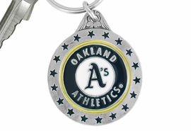 <bR>             LEAD & NICKEL FREE!!!<br>         OFFICIAL MLB LICENSED!!<br>      MAJOR LEAGUE BASEBALL!!<Br>W16775KC - OAKLAND ATHLETICS<BR>KEY CHAIN FROM $2.99