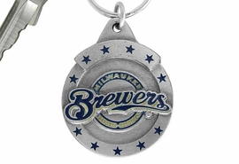 <bR>              LEAD & NICKEL FREE!!!<br>          OFFICIAL MLB LICENSED!!<br>        MAJOR LEAGUE BASEBALL!!<Br>W16783KC - MILWAUKEE BREWERS<BR>              KEY CHAIN FROM $2.99