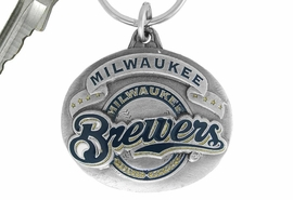 <bR>              LEAD & NICKEL FREE!!!<br>           OFFICIAL MLB LICENSED!!<br>         MAJOR LEAGUE BASEBALL!!<Br>W16784KC - MILWAUKEE BREWERS<BR>                   KEY CHAIN FROM $2.99