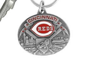 <bR>             LEAD & NICKEL FREE!!!<br>         OFFICIAL MLB LICENSED!!<br>       MAJOR LEAGUE BASEBALL!!<Br>    W16787KC - CINCINNATI REDS<BR>               KEY CHAIN FROM $2.99
