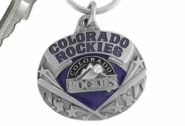 <bR>             LEAD & NICKEL FREE!!!<br>         OFFICIAL MLB LICENSED!!<br>       MAJOR LEAGUE BASEBALL!!<Br>W16859KC - COLORADO ROCKIES<BR>                KEY CHAIN FROM $2.99