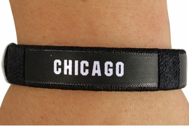 "<BR>          LEAD & NICKEL FREE!!<br>      OFFICIAL MLB LICENSED!<BR>W18347B - ""CHICAGO WHITE SOX""<Br>         CUFF BRACELET FROM<br>                  $1.99"