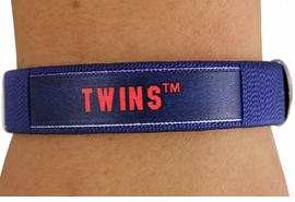 "<BR>          LEAD & NICKEL FREE!!<br>      OFFICIAL MLB LICENSED!<BR>W18360B - ""MINNESOTA TWINS""<Br>         CUFF BRACELET FROM<br>                  $2.99"