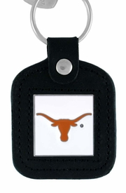 <Br>               LEAD & NICKEL FREE!!<BR>         OFFICIAL NCAA LICENSED!!<Br>W15123KC - UNIVERSITY OF TEXAS<Br>GENUINE BLACK LEATHER FRAMED<Br>       KEY CHAIN AS LOW AS $2.99