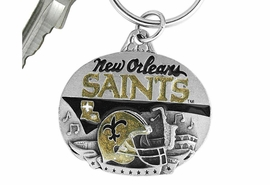 <bR>              LEAD & NICKEL FREE!!!<br>           OFFICIAL NFL LICENSED!!<br>     NATIONAL FOOTBALL LEAGUE!!<Br>W16653KC - NEW ORLEANS SAINTS<BR>  KEY CHAIN FROM $5.06 TO $11.25