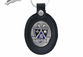 <Br>               LEAD & NICKEL FREE!!<BR>           OFFICIAL NHL LICENSED!!<Br> W15977KC - LOS ANGELES KINGS<Br>GENUINE BLACK LEATHER FRAMED<Br>KEY CHAIN FROM $9.56 TO $21.25