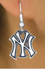 <bR>               LEAD & NICKEL FREE!!<Br>             OFFICIALLY LICENSED!!<Br>MAJOR LEAGUE BASEBALL LOGOS!!<Br>   W14783E - NEW YORK YANKEES<Br>  EARRINGS FROM $2.99