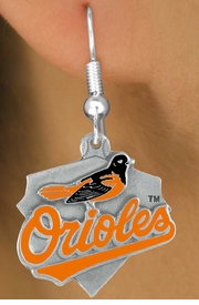 <bR>               LEAD & NICKEL FREE!!<Br>             OFFICIALLY LICENSED!!<Br>MAJOR LEAGUE BASEBALL LOGOS!!<Br>   W14813E - BALTIMORE ORIOLES<Br>  LOGO EARRINGS AS LOW AS $2.99