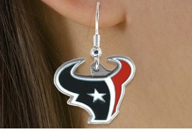 <bR>             LEAD & NICKEL FREE!!<Br>            OFFICIALLY LICENSED!!<Br>   NATIONAL FOOTBALL LEAGUE!!<Br>    W14880E - HOUSTON TEXANS<Br>LOGO EARRINGS AS LOW AS $8.40