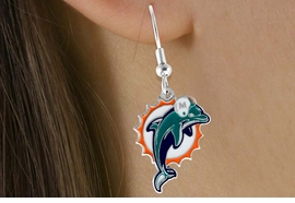 <bR>             LEAD & NICKEL FREE!!<Br>            OFFICIALLY LICENSED!!<Br>   NATIONAL FOOTBALL LEAGUE!!<Br>     W14888E - MIAMI DOLPHINS<Br>LOGO EARRINGS AS LOW AS $2.99