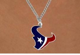 <Br>         LEAD & NICKEL FREE!!<Br>        OFFIIALLY LICENSED!!<Br>NATIONAL FOOTBALL LEAGUE!!<Br>W14920N - HOUSTON TEXANS<Br>       CHAIN LOGO NECKLACE<br>              FROM $6.50 TO $10.00