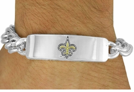 <BR>          LEAD & NICKEL FREE!!<Br>         OFFICIALLY LICENSED!!<Br>NATIONAL FOOTBALL LEAGUE!!<Br>     W17758BB - NEW ORLEANS <Br>    SAINTS BRACELET FROM<Br>               $10.13 TO $22.50