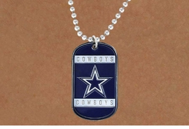<Br>       LEAD & NICKEL FREE!!<Br>      OFFICIALLY LICENSED!!<Br>NATIONAL FOOTBALL LEAGUE!!<Br>W19258N - DALLAS COWBOYS<Br>          DOG TAG NECKLACE<br>        FROM $5.63 TO $12.50