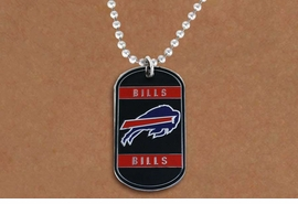 <Br>       LEAD & NICKEL FREE!!<Br>      OFFICIALLY LICENSED!!<Br>NATIONAL FOOTBALL LEAGUE!!<Br>W19625N - BUFFALO BILLS <Br>          DOG TAG NECKLACE<br>        FROM $2.99