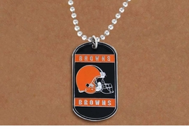<Br>       LEAD & NICKEL FREE!!<Br>      OFFICIALLY LICENSED!!<Br>NATIONAL FOOTBALL LEAGUE!!<Br>W19631N - CLEVELAND BROWNS <Br>          DOG TAG NECKLACE<br>        FROM $2.99