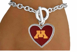 "<Br>                   LEAD & NICKEL FREE!!<Br>                 OFFICIALLY LICENSED!!<bR>W15015B - UNIVERSITY OF MINNESOTA<Br>       ""GOLDEN GOPHERS"" BRACELET<Br>                        AS LOW AS $3.65"