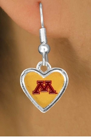 "<Br>                    LEAD & NICKEL FREE!!<Br>                 OFFICIALLY LICENSED!!!<bR>W15016E - UNIVERSITY OF MINNESOTA<Br>        ""GOLDEN GOPHERS"" EARRINGS<BR>                         AS LOW AS $3.65"
