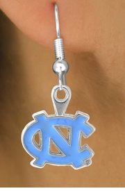 <Br>                    LEAD & NICKEL FREE!!<Br>                 OFFICIALLY LICENSED!!!<bR>     W15031E - UNIVERSITY OF NORTH<Br>CAROLINA EARRINGS AS LOW AS $3.65