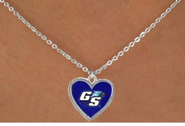 "<Br>        LEAD & NICKEL FREE!!<Br>      OFFICIALLY LICENSED!!<bR> W15069N - GEORGIA STATE<Br>UNIVERSITY ""EAGLES"" LOGO<br>NECKLACE FROM $1.99"