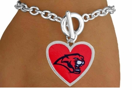 <Br>                   LEAD & NICKEL FREE!!<Br>                 OFFICIALLY LICENSED!!<bR>W15085B - UNIVERSITY OF HOUSTON<Br>COUGARS BRACELET AS LOW AS $3.65
