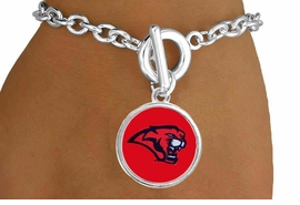<Br>                  LEAD & NICKEL FREE!!<Br>                OFFICIALLY LICENSED!!<bR> W15108B - UNIVERSITY OF HOUSTON<Br>COUGARS BRACELET AS LOW AS $3.65