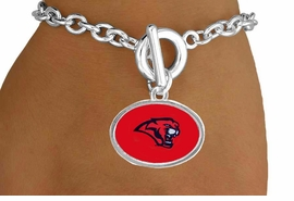 <Br>                  LEAD & NICKEL FREE!!<Br>                OFFICIALLY LICENSED!!<bR> W15110B - UNIVERSITY OF HOUSTON<Br>COUGARS BRACELET AS LOW AS $3.65