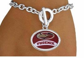 <Br>                  LEAD & NICKEL FREE!!<Br>                 OFFICIALLY LICENSED!!<bR> W15239B - ELON UNIVERSITY PHOENIX<Br>       BRACELET FROM $3.94 TO $8.75