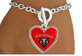 <Br>                    LEAD & NICKEL FREE!!<Br>                  OFFICIALLY LICENSED!!<bR>W15285B - UNIVERSITY OF NEW MEXICO<Br> LOBOS BRACELET FROM $3.94 TO $8.75