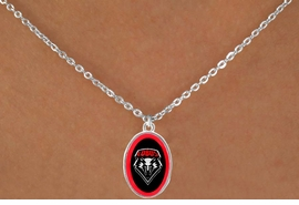<Br>                     LEAD & NICKEL FREE!!<Br>                   OFFICIALLY LICENSED!!<bR>W15290N - UNIVERSITY OF NEW MEXICO<Br> LOBOS NECKLACE FROM $3.94 TO $8.75