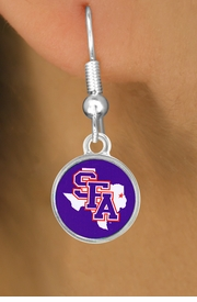 "<Br>               LEAD & NICKEL FREE!!<Br>            OFFICIALLY LICENSED!!!<bR>     W15757E - STEPHEN F. AUSTIN<Br>STATE UNIVERSITY ""LUMBERJACKS""<Br>   EARRINGS FROM $3.94 TO $8.75"