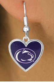 "<Br>              LEAD & NICKEL FREE!!<Br>           OFFICIALLY LICENSED!!!<bR>W16083E - PENNSYLVANIA STATE<Br>    UNIVERSITY ""NITTANY LIONS""<Br>  EARRINGS FROM $3.94 TO $8.75"