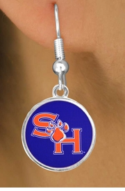 <Br>                   LEAD & NICKEL FREE!!<Br>                OFFICIALLY LICENSED!!!<bR>  W19127E - SAM HOUSTON UNIVERSITY<Br>BEARKATS EARRINGS FROM $3.65 TO $8.75