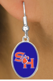 <Br>                   LEAD & NICKEL FREE!!<Br>                OFFICIALLY LICENSED!!!<bR>  W19128E - SAM HOUSTON UNIVERSITY<Br>BEARKATS EARRINGS FROM $3.65 TO $8.75