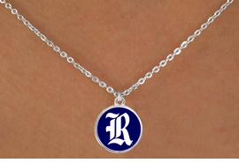 "<Br>                  LEAD & NICKEL FREE!!<Br>                OFFICIALLY LICENSED!!<bR> W19133N - RICE UNIVERSITY OWLS<Br>""R"" LOGO NECKLACE FROM $3.65 TO $8.75"