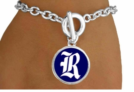 "<Br>                  LEAD & NICKEL FREE!!<Br>                OFFICIALLY LICENSED!!<bR> W19138B - RICE UNIVERSITY OWLS <Br>""R-LOGO"" BRACELET FROM $3.35 TO $7.50"