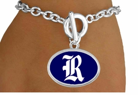 "<Br>                  LEAD & NICKEL FREE!!<Br>                OFFICIALLY LICENSED!!<bR> W19139B - RICE UNIVERSITY OWLS <Br>""R-LOGO"" BRACELET FROM $3.35 TO $7.50"