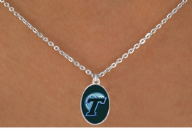 "<Br>                  LEAD & NICKEL FREE!!<Br>                OFFICIALLY LICENSED!!<bR> W19149N - TULANE UNIVERSITY ""GREEN WAVE""<Br>       LOGO NECKLACE FROM $3.65 TO $8.75"