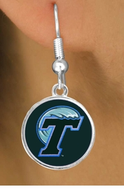 "<Br>                   LEAD & NICKEL FREE!!<Br>                OFFICIALLY LICENSED!!!<bR>  W19151E - TULANE UNIVERSITY ""GREEN WAVE""<Br>         EARRINGS FROM $3.65 TO $8.75"