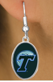 "<Br>                   LEAD & NICKEL FREE!!<Br>                OFFICIALLY LICENSED!!!<bR>  W19152E - TULANE UNIVERSITY ""GREEN WAVE""<Br>         EARRINGS FROM $3.65 TO $8.75"