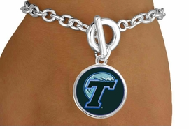 "<Br>                  LEAD & NICKEL FREE!!<Br>                OFFICIALLY LICENSED!!<bR> W19154B - TULANE UNIVERSITY ""GREEN WAVE"" <Br>         BRACELET FROM $3.35 TO $7.50"