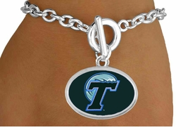 "<Br>                  LEAD & NICKEL FREE!!<Br>                OFFICIALLY LICENSED!!<bR> W19155B - TULANE UNIVERSITY ""GREEN WAVE"" <Br>         BRACELET FROM $3.35 TO $7.50"