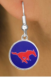 "<Br>                   LEAD & NICKEL FREE!!<Br>                OFFICIALLY LICENSED!!!<bR>W19177E - SOUTHERN METHODIST<br> UNIVERSITY ""MUSTANGS""<Br>         EARRINGS FROM $3.94 TO $8.75"