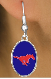 "<Br>                   LEAD & NICKEL FREE!!<Br>                OFFICIALLY LICENSED!!!<bR>W19178E - SOUTHERN METHODIST<br> UNIVERSITY ""MUSTANGS""<Br>         EARRINGS FROM $3.94 TO $8.75"
