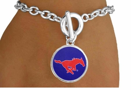 "<Br>                  LEAD & NICKEL FREE!!<Br>                OFFICIALLY LICENSED!!<bR> W19180B - SOUTHERN METHODIST <br>       UNIVERSITY ""MUSTANGS"" <Br>         BRACELET FROM $3.35 TO $7.50"
